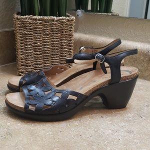 Dansko Coquette Floral Open Toe Sandal Heels 10